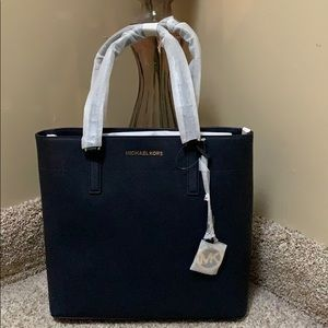 NWT MICHAEL Michael Kors Morgan Leather Tote Large